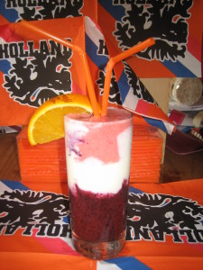 Rood, wit, blauw smoothie